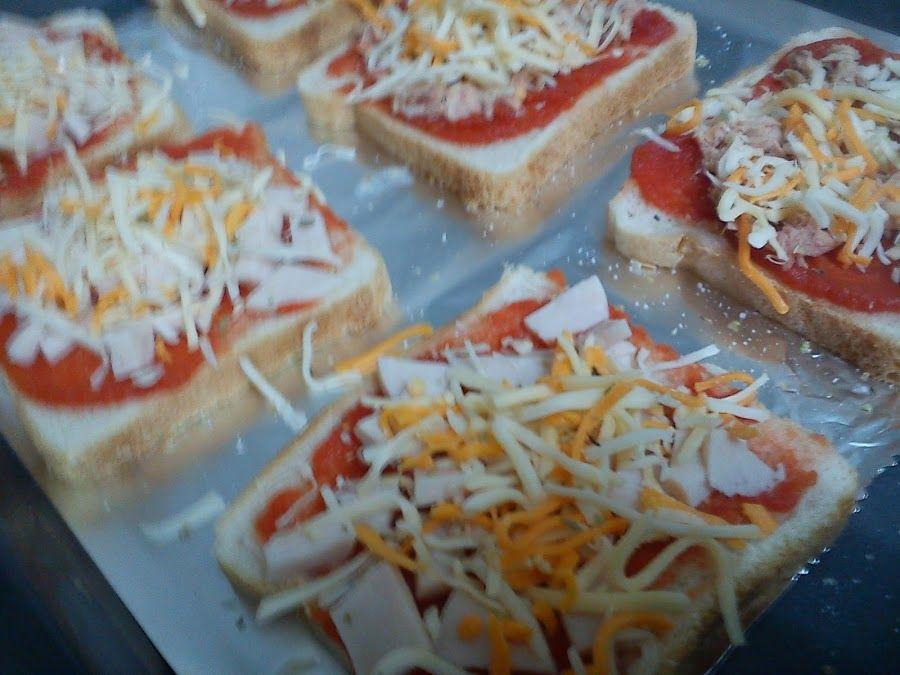 PIZZA FACIL RAPIDA Y BARATA Pizzas Pechuga de pavo y Pan de molde