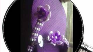 Chinelos decorados, via YouTube.