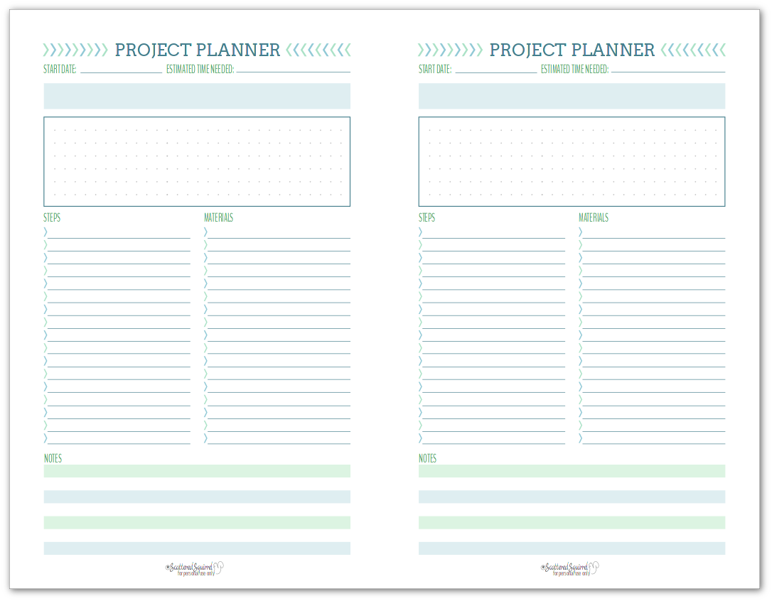 New Project Planning Printable Set