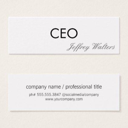 Ceo professional mini business card ceo professional mini business card corporate business cyo personalize customize colourmoves