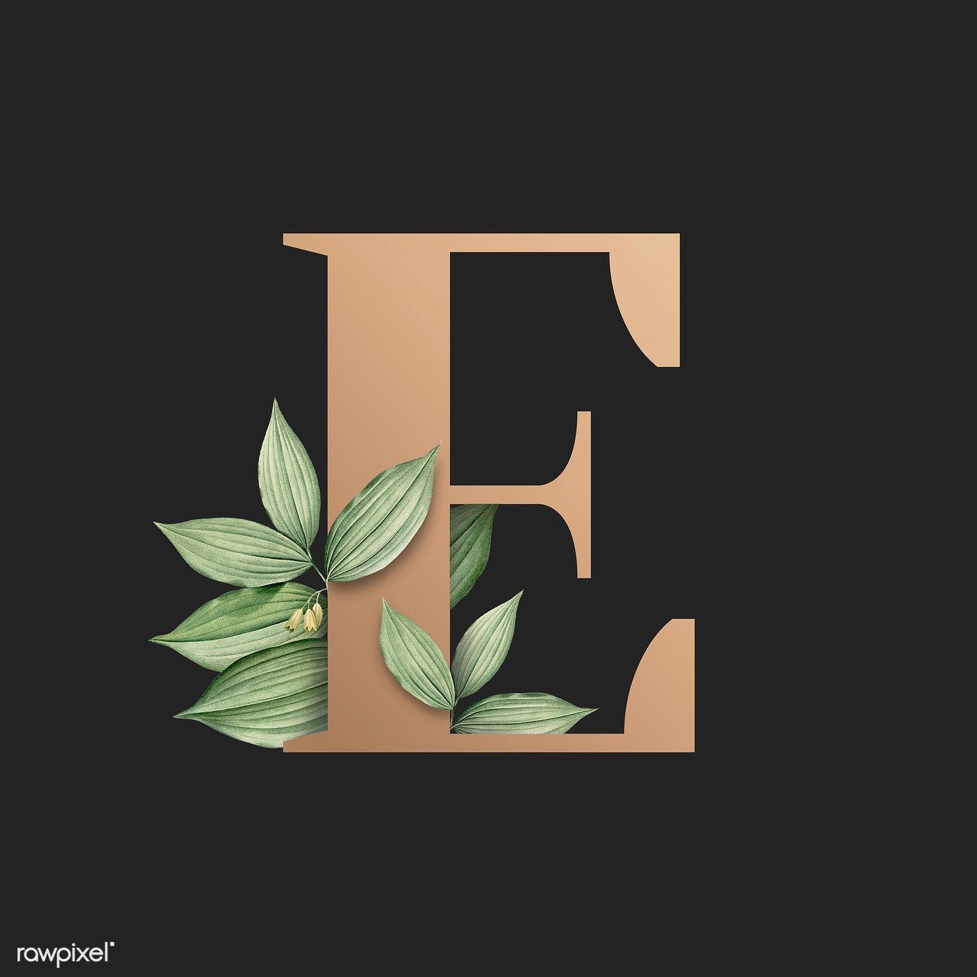 Download Premium Illustration Of Botanical Capital Letter E Illustration Lettering Alphabet Fonts Lettering Lettering Alphabet
