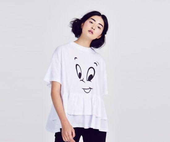 Lazy Oaf x Casper Face T-shirt