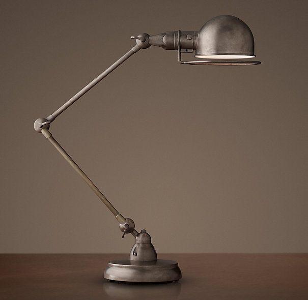 Atelier Task Table Lamp Patina Nickel Table Lamp Lamp Desk Lamp