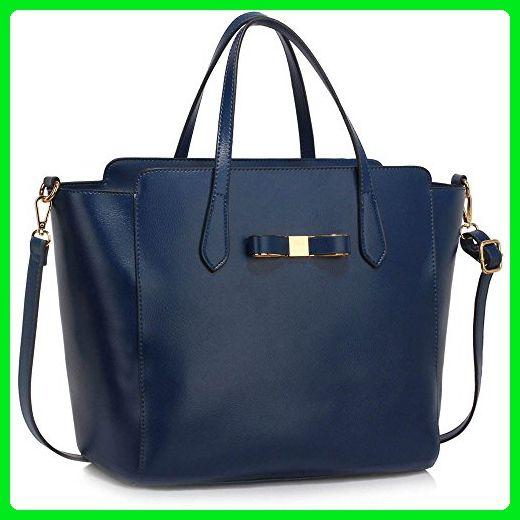 117ce9333ead Tote Bag For School (Navy) Handbag New Fashion Designer Ladies Faux Leather  Shoulder Bag - Totes ( Amazon Partner-Link)