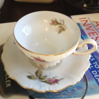 Occupied Japan Ohata China Teacup And Saucer Lovely Roses Pattern Marked And Min