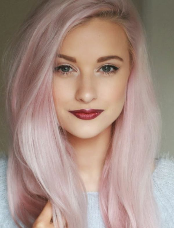 Couleur rose permanente pour cheveux