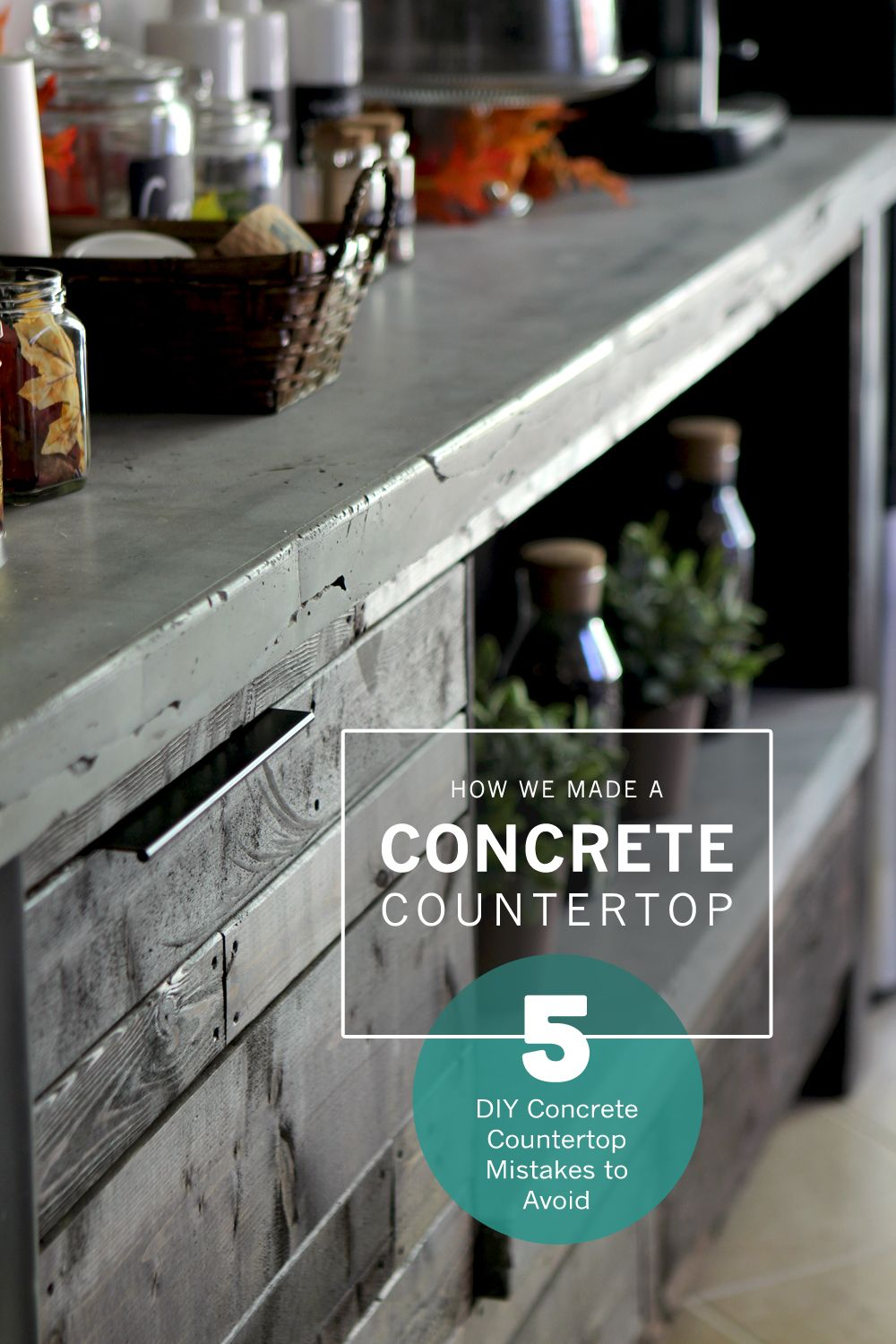 How To Make A Diy Concrete Countertop Like One For Coffee Bar Top Plus 5 Mistakes Avoid