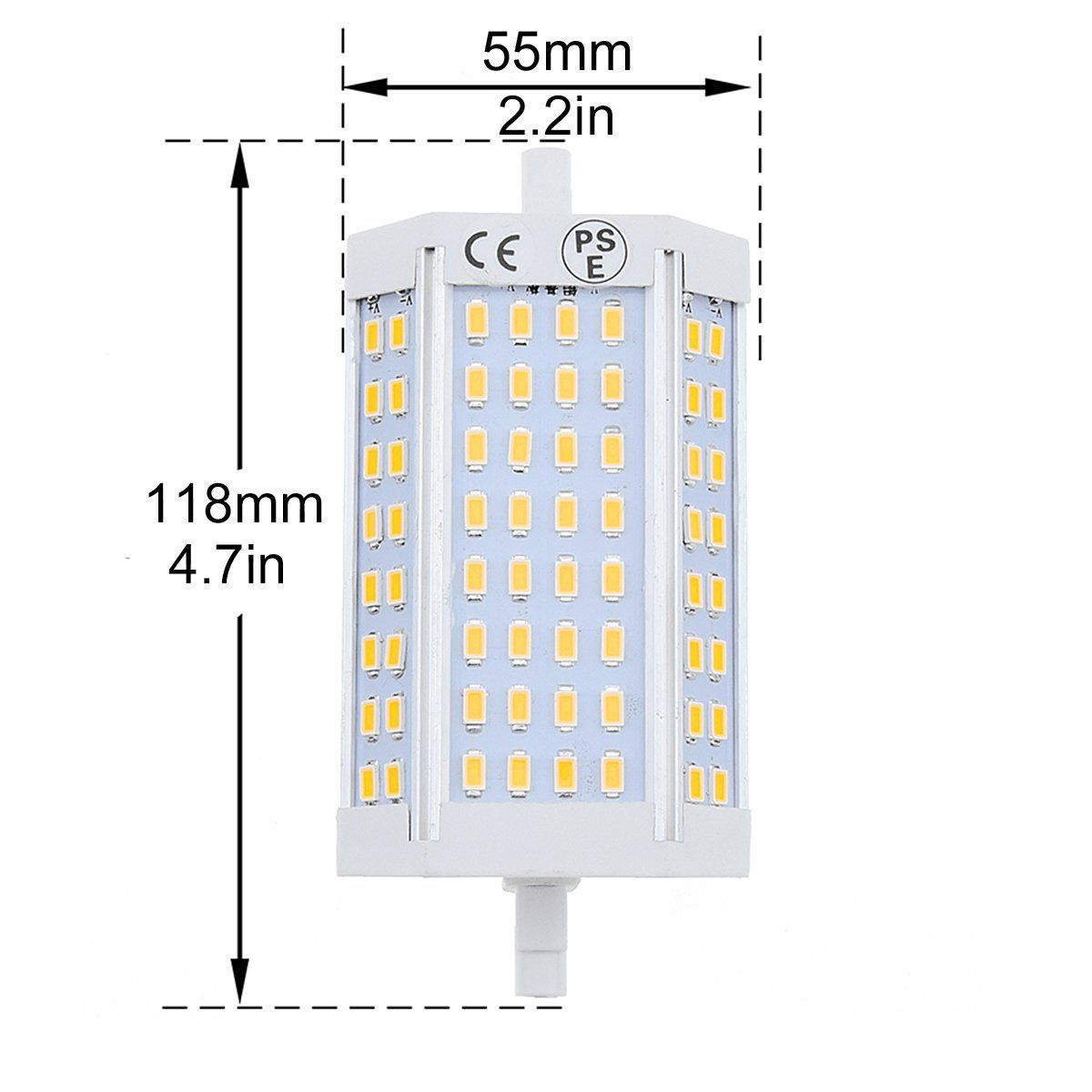 Bonlux Double Ended R7s J118 Led Light Bulb 25w Daylgiht 6000k J Type 118mm 200w Halogen Bulb Equivalent Led Flood Li Led Flood Lights Led Light Bulb Led Flood