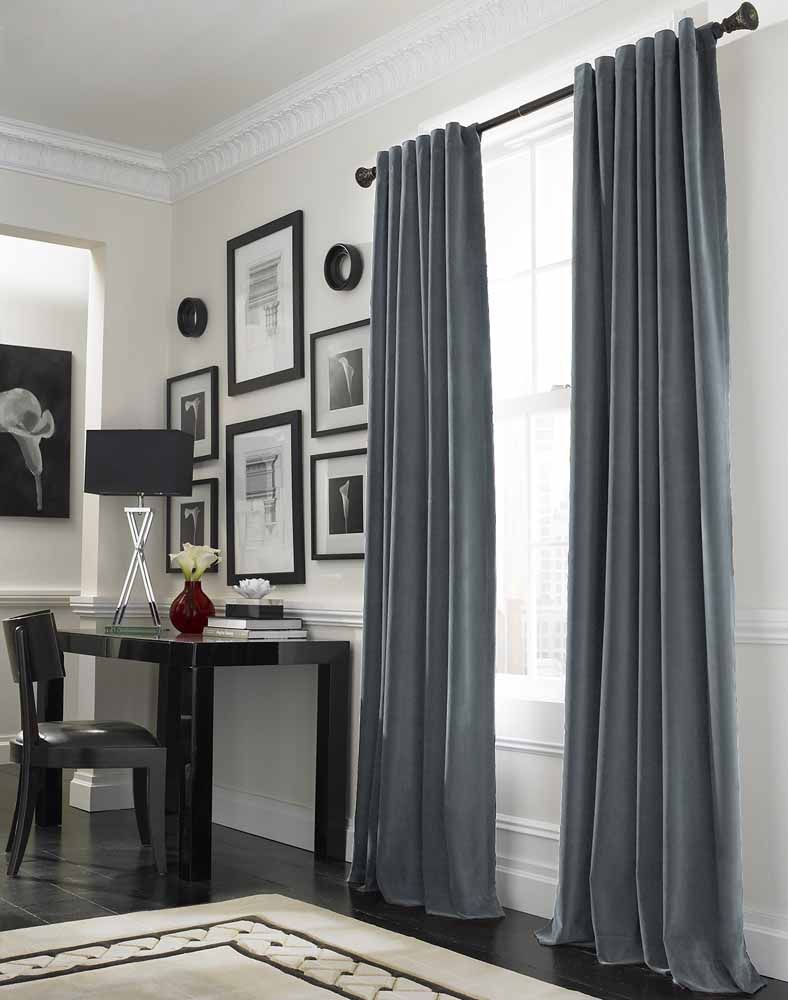 Grey curtains living room - Mode Voor De Ramen