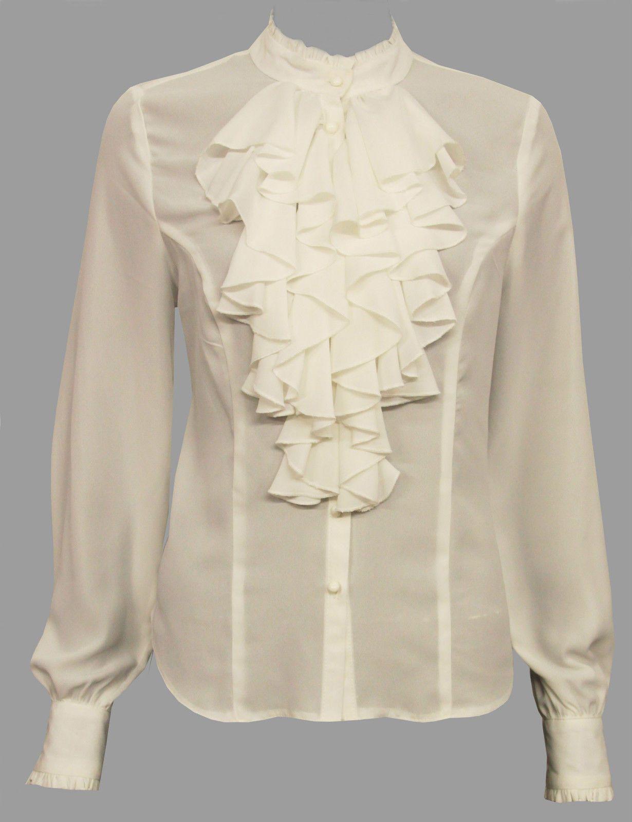 dfe316c60562e Bnwt ivory frilly blouse sizes 10