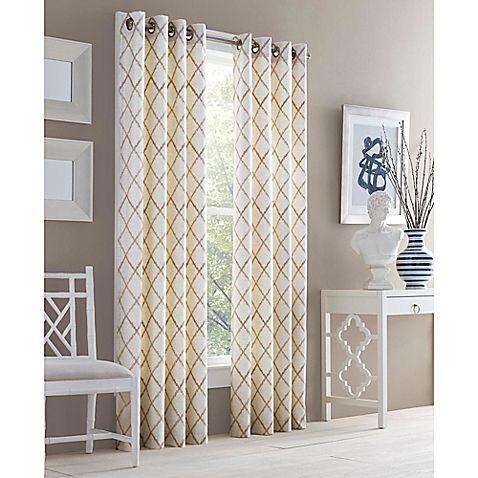 J Queen New York Adorn Grommet Top Embroidered Window Curtain