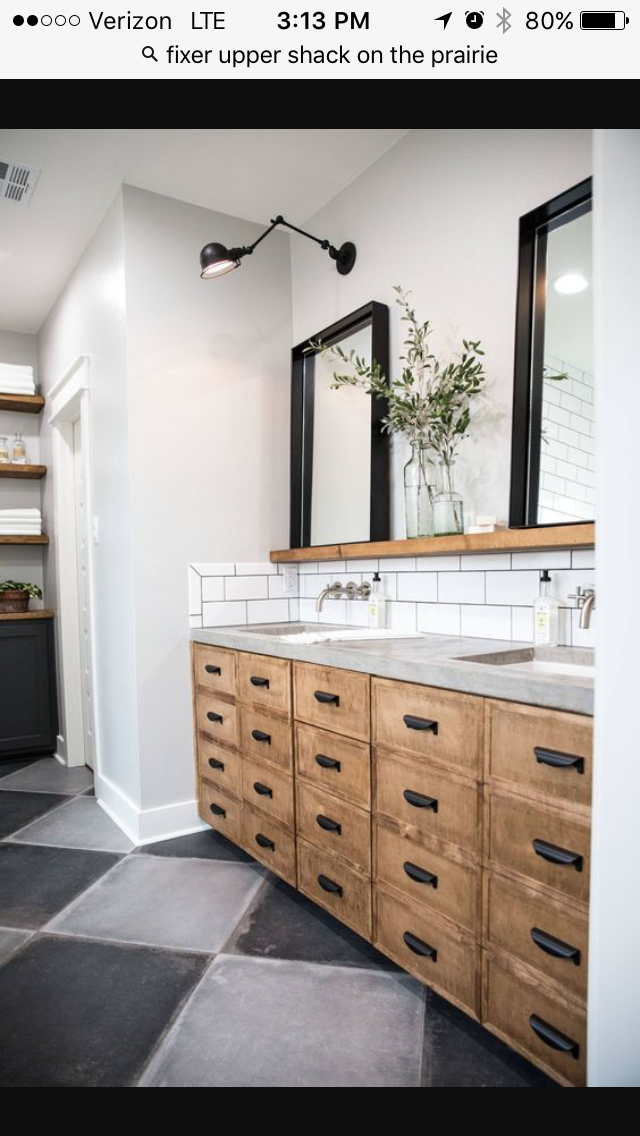 Ledge Above Sinks With Leaner Mirrors For The Home