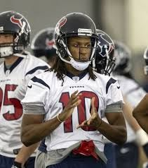 Houston Texans wide receivers coach Larry Kirksey said he was impressed at how WR DeAndre Hopkins picked up the offense.