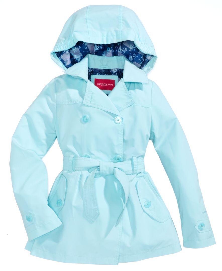 London Fog Girls Big Lightweight Hooded Jacket