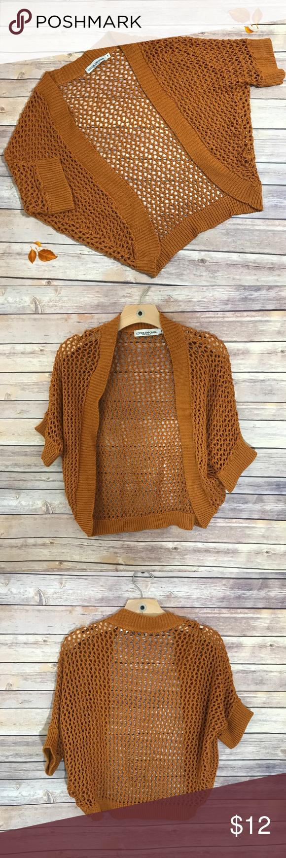 Cotton Emporium Burnt Orange Knitted Cardigan M | Falling leaves ...
