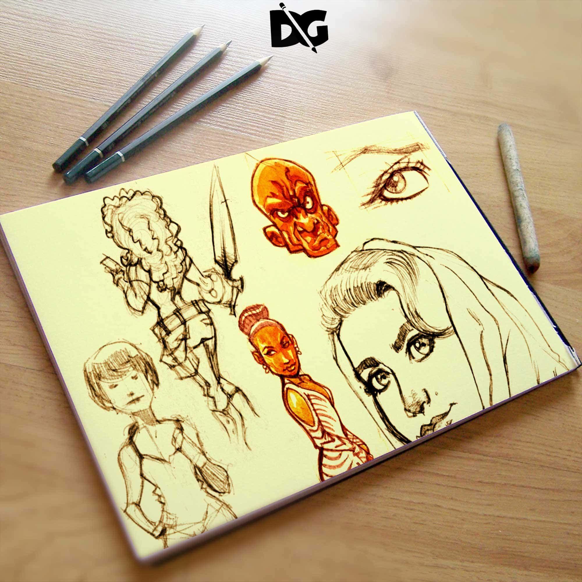 Free Download Sketchpad Design Mockup Design Mockup Free Free Logo Mockup Free Logo Psd