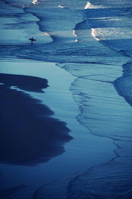 Cote De Basques Biarritz France Surfing Blue Ocean Waves