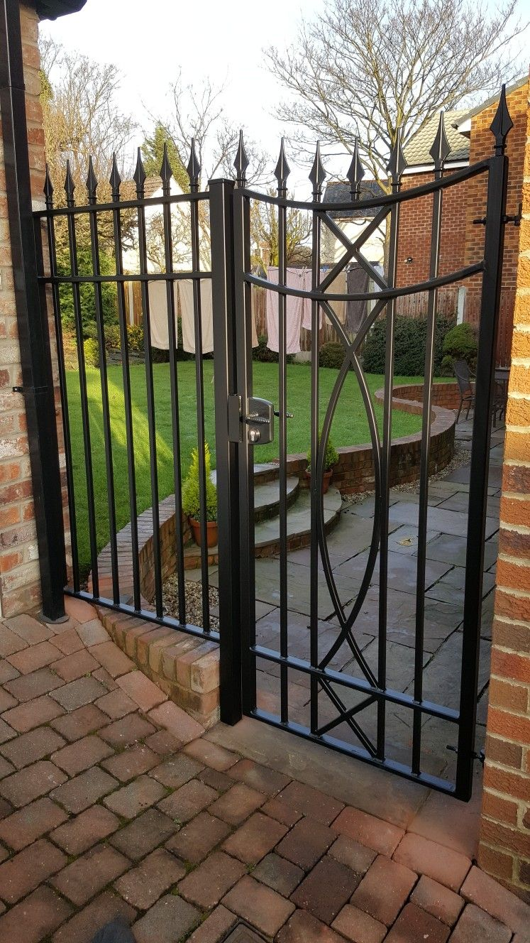 Wrought Iron Side Gate With Lock Buy Online At Www Caldergates Co