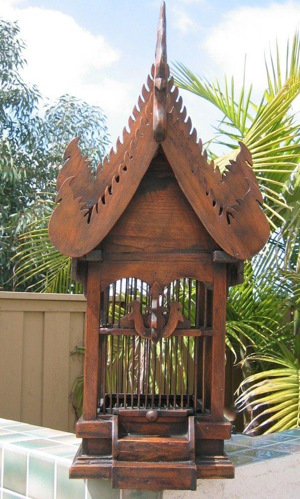 Bird House Teak Wood Thai Bird House Animal House Bird
