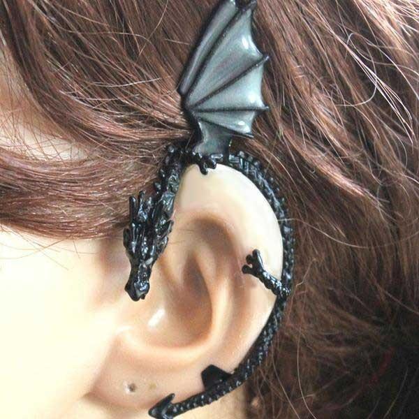 3f3daa5816189f The Whispering Dragon Glow In The Dark Handcrafted Ear Cuff - Fanduco