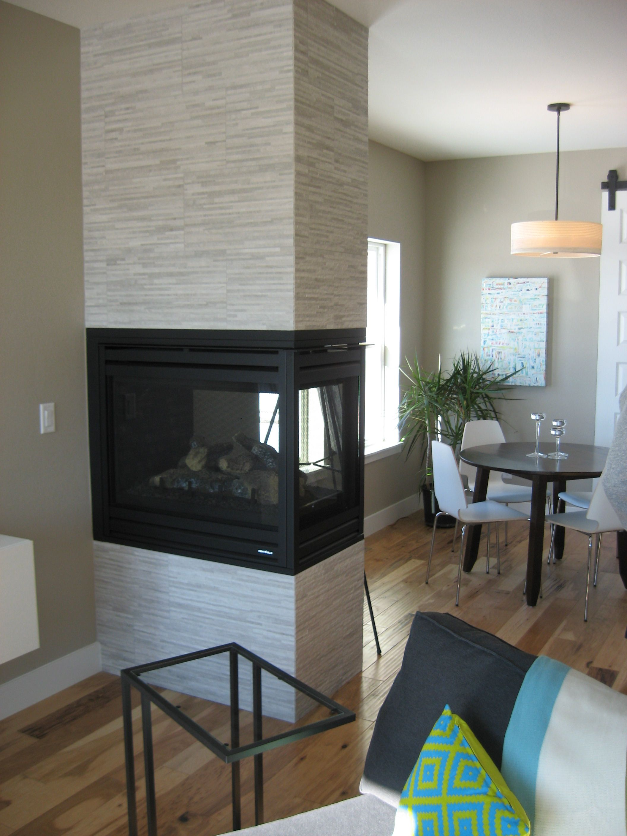 3 Sided Fireplace Focal Point Interior Room Fr Development Fort Collins Colorado