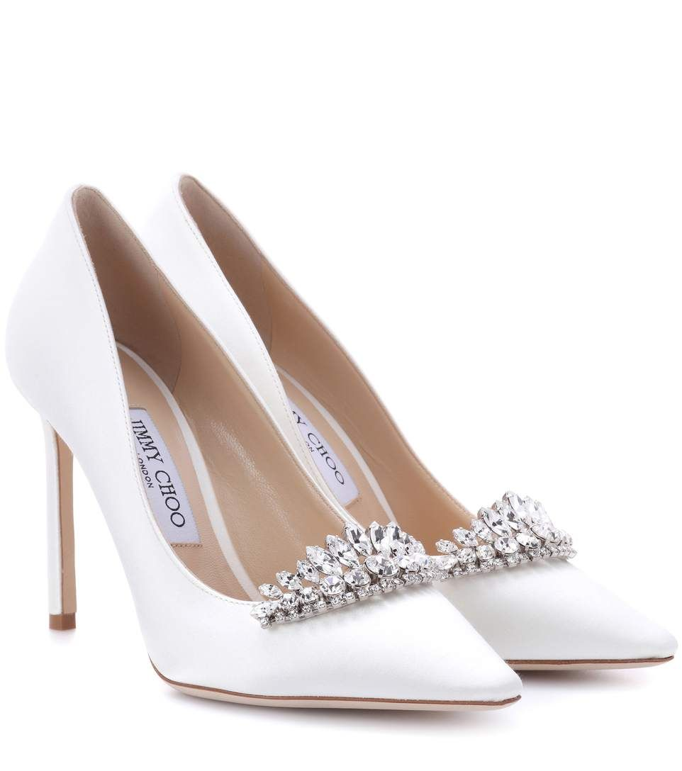 38a53a18cef7 Shop JIMMY CHOO ROMY 100 SATIN PUMPS
