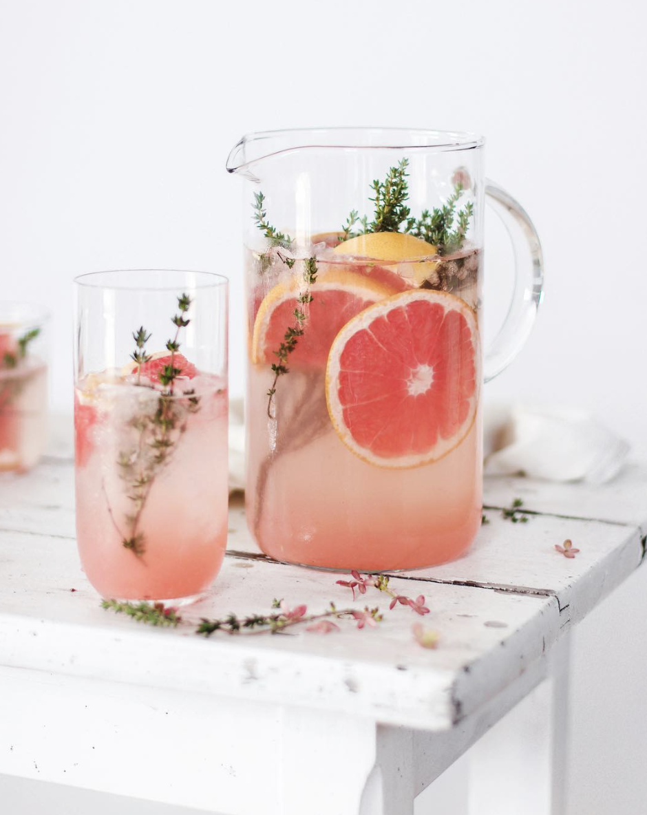 Grapefruit and Thyme Mocktail #drinks