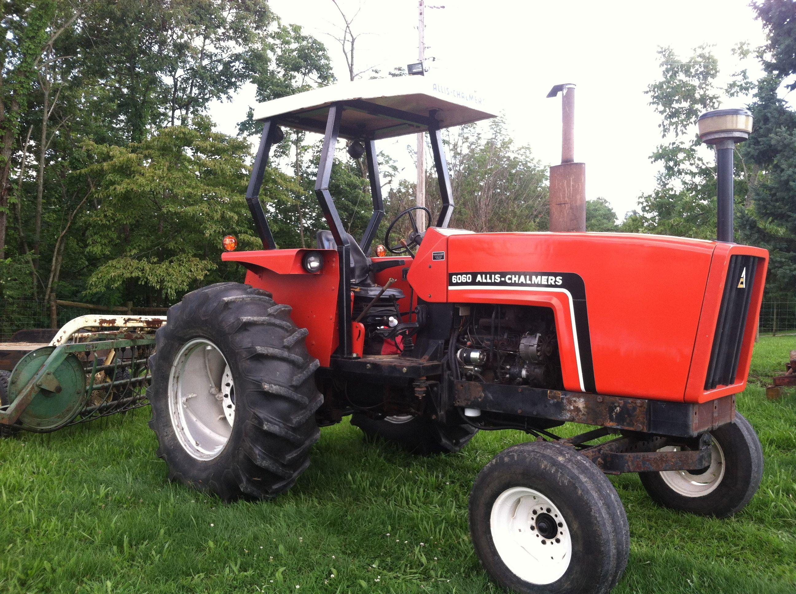 Allis Chalmers 6060 John Deere hay rake | Farm life ...