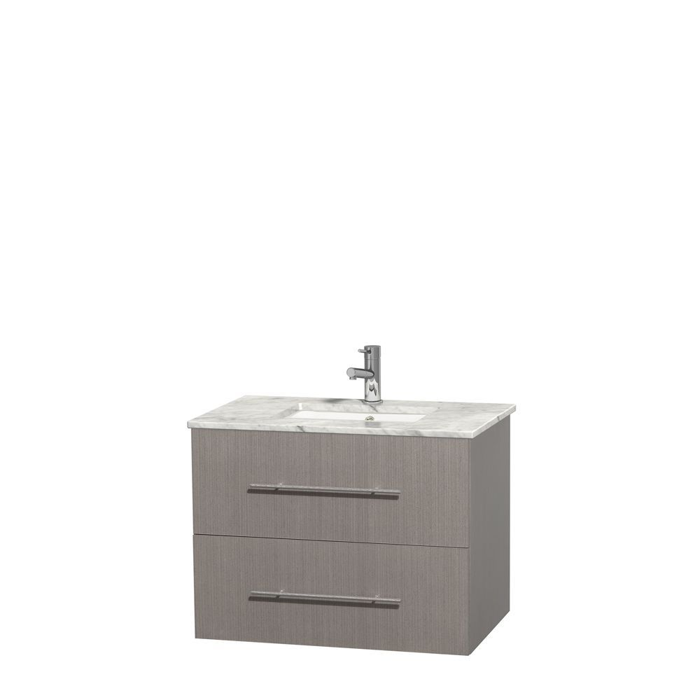 Wyndham Collection Centra Inch Single Bathroom Vanity In Grey - Mirror size for 30 inch vanity