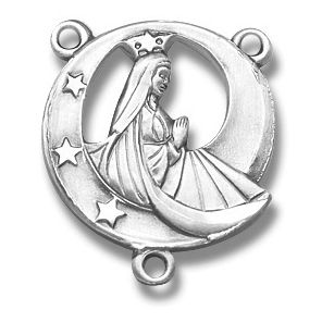 Stella Maris Sterling Silver Rosary Centerpiece Part 1.8cm