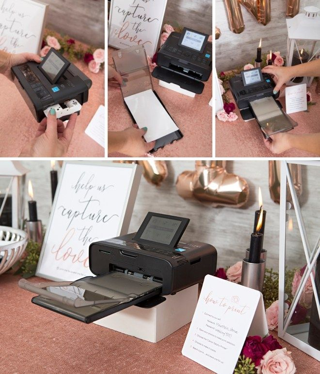 This Diy Photo Printing Favor Station Is The Cutest Ever Photo Guest Book Wedding Diy Photo Photo Printer
