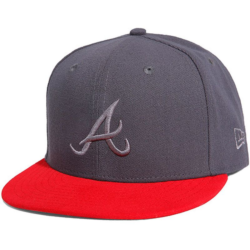 super popular 8009a 7ddea Atlanta Braves New Era Poptonal 59FIFTY Fitted Hat - Graphite Red