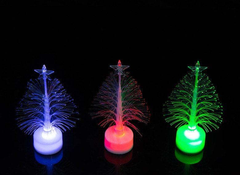 jueja novelty glowing fiber optic christmas tree night lamp led bottom sticker night light for children romantic home decorative