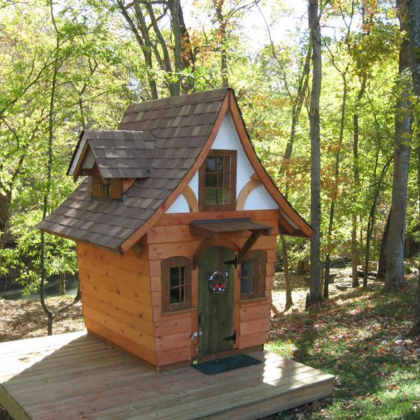 storybook cottage playhouse plans