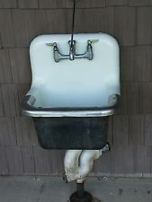 1960 S Vintage Eljer Farmhouse Utility Laundry Cast Iron Sink With