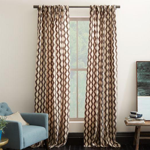 Curtain For Doorway Between Laundry Room Hallway Rhombi