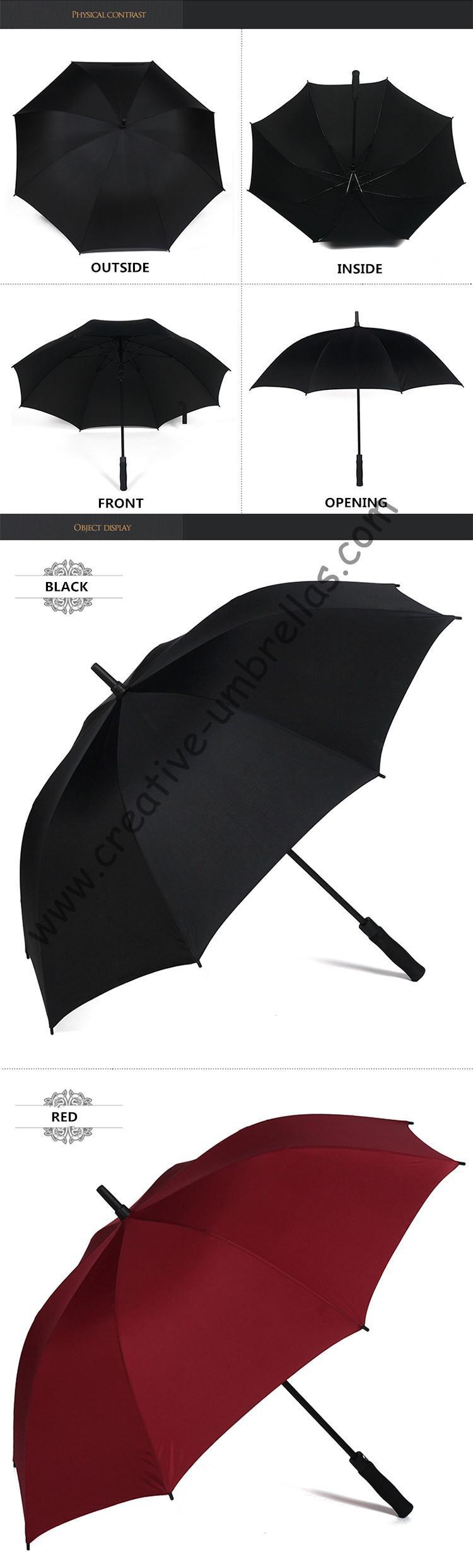Straight golf umbrellas.14mm fiberglass shaft and ribs,auto open,windproof,anti-thunderbolt golf,anti satic,anti electricity   #GolfAccessories #GolfCart #GolfRangeFinder