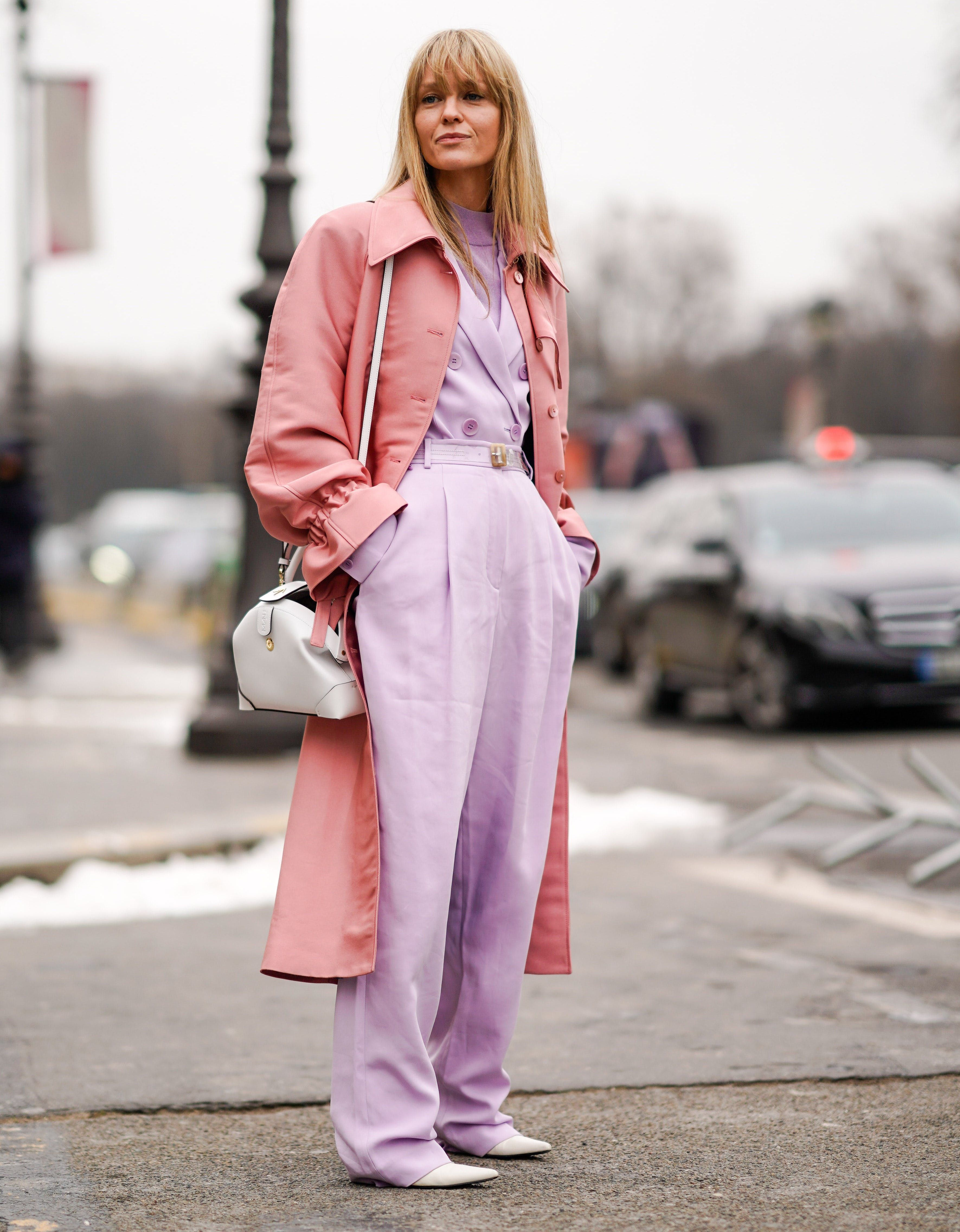 f1f2de0c9e60 dusty rose jacket and lavender pants Color Combinations For Clothes