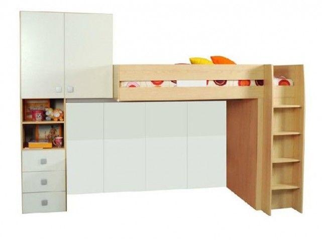 60 lits mezzanine pour gagner de la place elle. Black Bedroom Furniture Sets. Home Design Ideas