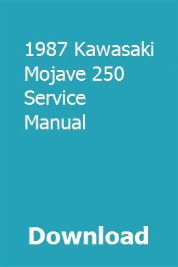 kawasaki mojave manual