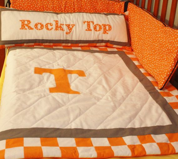 Tennessee Volunteers Baby Bedding Quilt Nursery Sports Rocky Top Football