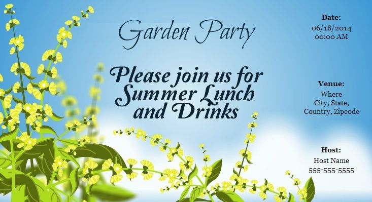 b0441854b9c4e480338a21d967e1a35c the summer season is here! invite your friends for a garden,Send Online Invitations