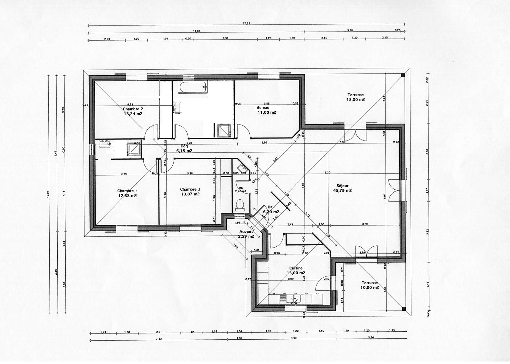 plan maison 140m2 architecture pinterest plans
