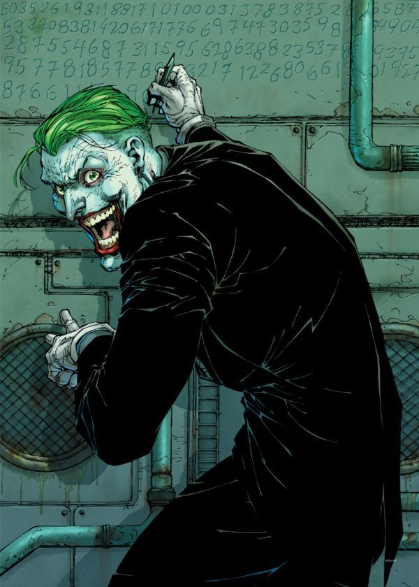 "Official DC Comics Jim Lee Collection Joker #Displate artwork by artist ""DC Comics"". Part… | Displate thumbnail"