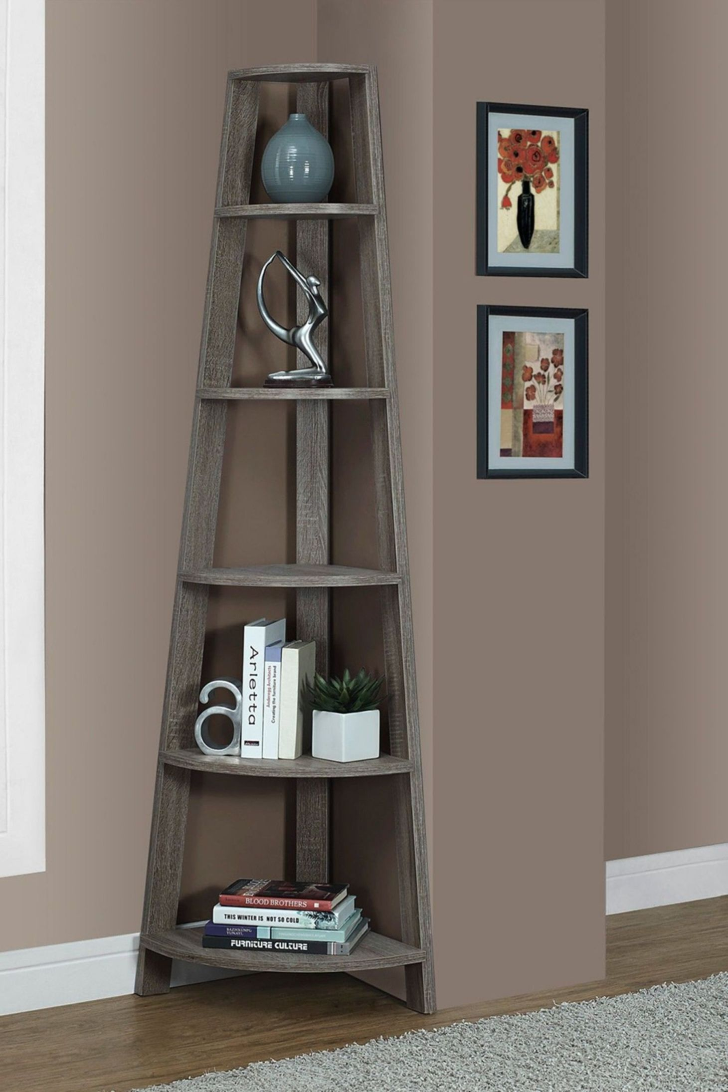 10 Interesting Corner Shelves Design Ideas To Save Some Space