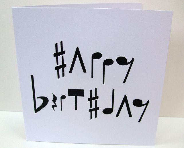 Music Birthday Card Cards Handmade Pinterest Cards Birthday