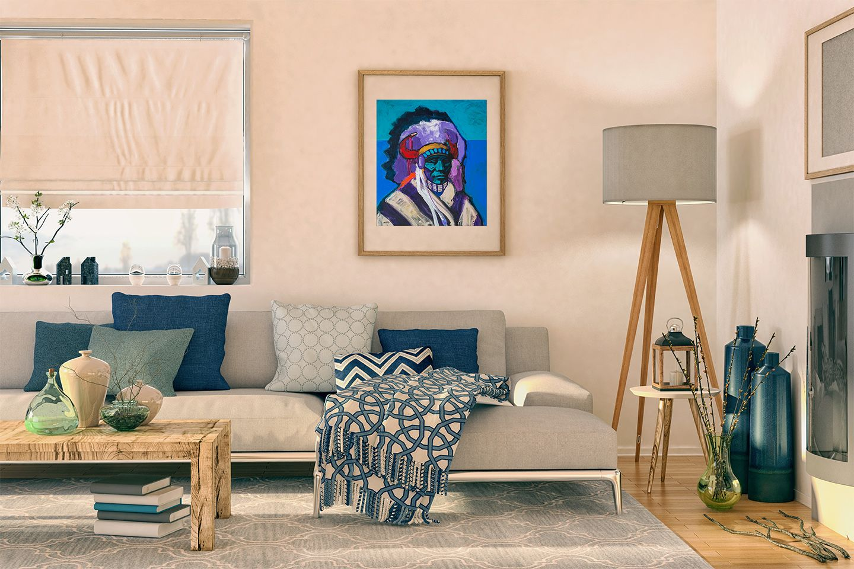 """Plains Apache"" by John Nieto Home decor online"