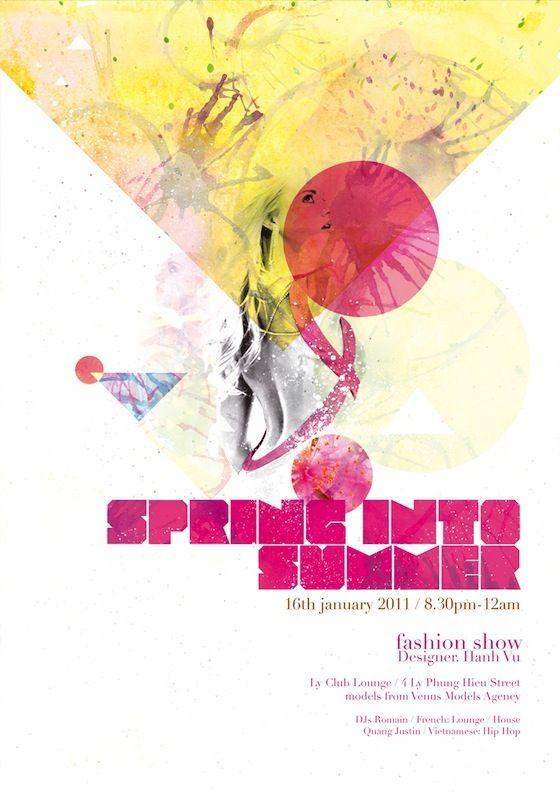 Spring into Summer Fashion Show Posters Pinterest – Fashion Poster Design