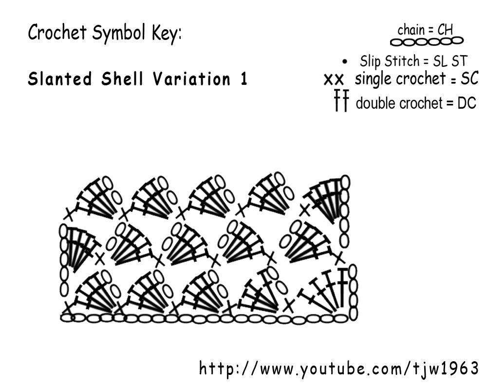 Slanted Shell by Teresa of Crochet Mania. | crochet | Pinterest ...