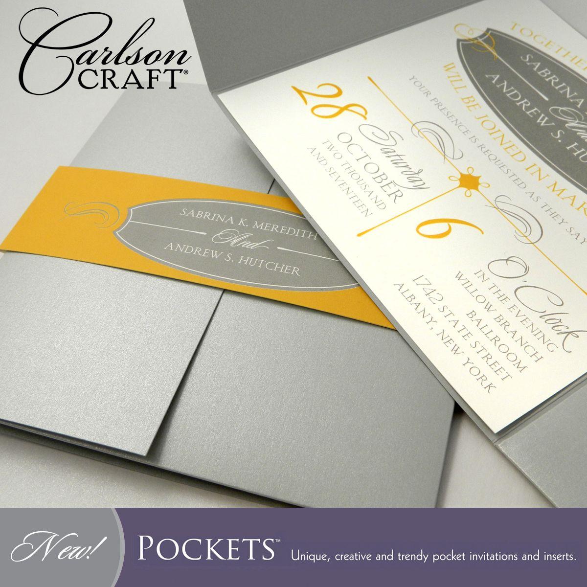 Carlson Craft Pocket Wedding Invitations: Pocket Wedding Invitations, Wedding Invitations